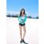 [พร้อมส่ง]BKN-529 ชุดว่ายน้ำแขนยาว เซ็ต 3 ชิ้น บราขาว+แขนยาวฟ้า+กก.ขาสั้นน้ำเงิน thumbnail 3