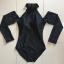 [พร้อมส่ง]BKN-472 ชุดว่ายน้ำแขนยาว วันพีชสีดำ คอจีน เปิดไหล่ สวยๆ thumbnail 9
