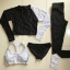 ชุดว่ายน้ำแขนยาว+ขายาว เซ็ต 4 ชิ้น สีดำแต่งลายเส้นสลับสีขาวดำ (บรา+บิกินี่+กก.ขายาว+เสื้อแขนยาว) thumbnail 10