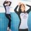 [พร้อมส่ง]BKN-025 ชุดว่ายน้ำแขนยาวขายาว โทนสีขาวดำ เซ็ต 3 ชิ้น thumbnail 4