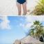 ชุดว่ายน้ำวันพีช ลายNavy สีน้ำเงินกรมท่า สายมัดคอ เว้าหลังลึก thumbnail 4