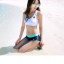 [พร้อมส่ง]BKN-529 ชุดว่ายน้ำแขนยาว เซ็ต 3 ชิ้น บราขาว+แขนยาวฟ้า+กก.ขาสั้นน้ำเงิน thumbnail 9