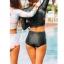 ชุดว่ายน้ำแขนยาว กางเกงเอวสูง สีดำแต่งลาย thumbnail 6