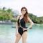 [พร้อมส่ง]BKN-032 ชุดว่ายน้ำวันพีชสีดำ ร่องอกซีทรูเซ็กซี่ หลังเว้าลึก thumbnail 2