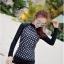[พร้อมส่ง]BKN-798 ชุดว่ายน้ำแขนยาวสีดำลายจุดขาว แขนสกรีนลาย (เสื้อ+กางเกง) ผู้หญิง thumbnail 7