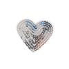 S0030 Silver Heart (sequins) 5.5cmx4.5cm