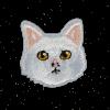 M0123 White Cat 3.6x3.6cm