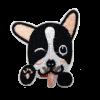 M0111 Bonton terrier smile 5.9x5.4cm