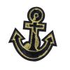 S0044 Black Gold Anchor Patch 6.8x6cm