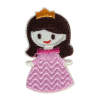 S0053 Sleeping Beauty Pink Dress Patch 3.6x6.3cm