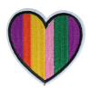 M0001 Rainbow Heart 8x7.6cm