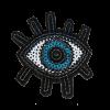 S0111 Sequins Mini Eye 5.5x4.8cm