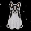 M0090 Boston Terrier Dog 3x6.5cm