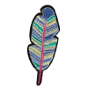 S0005 Boho Feather 2.6cmx7.6cm