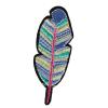 S0005 Boho Feather 2.6cmx7.6cm