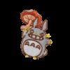 M0110 Totoro Mushroom 4.9x6.8cm