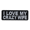 M0083 I love my crazy wife 10x3.8cm
