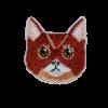 M0116 Cute Cat Face 3.4x3.9cm