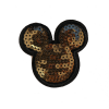 M0018 Golden Sequins Mickey 7x6.6cm