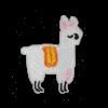 M0129 White Alpaca 4.9x6.0cm