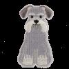 M0093 Schnauzer Dog 3x6.5cm
