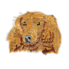 M0064 Gold Cute Dog 6.6x5.8cm