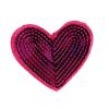 M0034 Pink Sequins heart 7.5x6.5 cm
