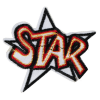 S0043 Hot Letter Star Patch 7.0cmx6.5cm