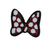 M0024 Red sequins Minnie bow 7x6.3cm