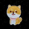 M0125 Shiba Cute Dog 4.5x3.5cm