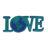 L0032 Love Earth 10.2x4.2cm
