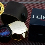 กล้องส่องพระ Leika 10x21 mm ทรงเหลี่ยมสีทองก้านดำสวยหรู เลนส์มาตรฐาน 3 ชั้น แท้