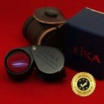 กล้องส่องพระ Leika 10x18mm แท้ (บอดี้สีดำ) แบบไม่หุ้มยาง