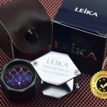 กล้องส่องพระ Leika10x 21mm ทรงเหลี่ยมสีเงินโครเมี่ยมก้านดำ (หุ้มยาง) เลนส์มาตรฐาน 3 ชั้น แท้