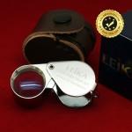 กล้องส่องพระ Leika 10x18mm แท้ (บอดี้สีเงิน) แบบไม่หุ้มยาง