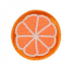 M0035 Sequins Orange 7.5x7.5 cm