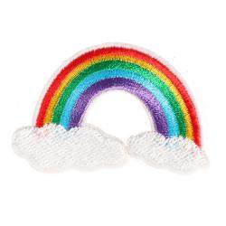 S0040 Colorful Cute Rainbow Patch 5.5x3.5cm