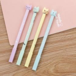 ปากกาหัวแมวน้อย แฟชั่น ราคา 72 บาท/แพค 12 ชิ้น/แพค