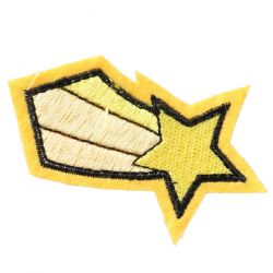 S0045 Comet Gold Patch 3.5x3.7cm