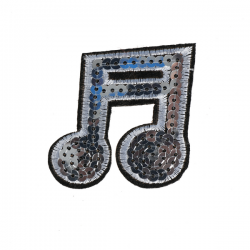 M0023 Sequins Music Eightnote 6x5.7cm