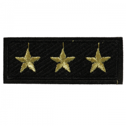 S0046 Military Three-Star Rank Patch 7.6x3cm