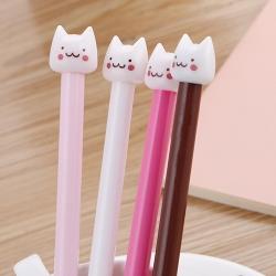 ปากกาหัวแมว ฝาขาว ราคา 72 บาท/แพค 12 ชิ้น/แพค