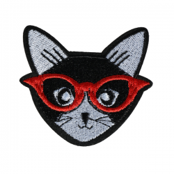 S0049 Super Cool Cat Patch 5.5cmx6.4cm