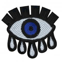 L0016 Huge sequins Eye 14.2x13.8cm