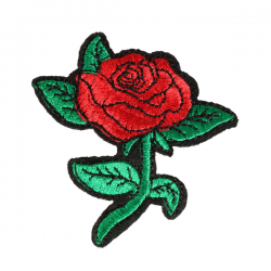 S0072 ROSE inspired by beauty and the beast 3.1x6.3cm
