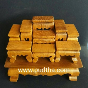โต๊ะหมู่บูชาไม้สักแบบจิ้๊ว