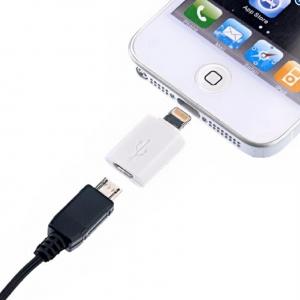 หัวแปลงพอตสายชาร์จ Android เป็น 8-pin (ไอโฟน5) ราคา 156 บาท/12 ชิ้น