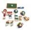 จิ๊กซอว์ไม้หมุด ชุดในห้องเรียนและคำศัพท์ มีพื้นหลัง ขนาด 30x20 เซนติเมตร thumbnail 1