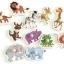จิ๊กซอว์ไม้หมุด รูปสัตว์ต่างๆ มีพื้นหลัง ขนาด 30X20 เซนติเมตร thumbnail 1