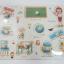 จิ๊กซอว์ไม้หมุด ชุดในห้องเรียนและคำศัพท์ มีพื้นหลัง ขนาด 30x20 เซนติเมตร thumbnail 4